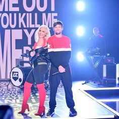 Louis and BeBe Rexha performing Back To You on the Tonight Show!