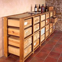 1000 images about caisses vin on pinterest wine crates wine boxes and crates. Black Bedroom Furniture Sets. Home Design Ideas