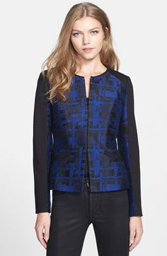 Classiques Entier® 'Luisa' Jacquard & Ponte Jacket available at #Nordstrom