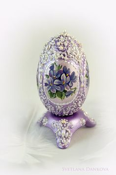 easter egg ceramic egg hand painted by LAIVA on Etsy