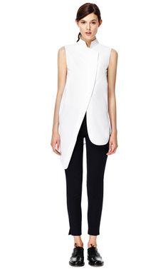 White Notch Collar Jacket by MUGLER