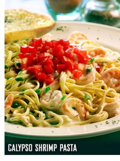 Calypso Shrimp Linguini Copy Cat Recipe. Want to try! This is my favorite Bahama Breeze dish!