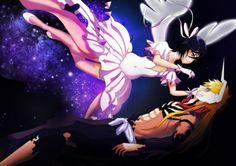 Ichigo Et Rukia, Rukia Bleach, Bleach Fanart, Castlevania Lord Of Shadow, Bleach Couples, Lord Of Shadows, Fan Art, Manga, Dragon Ball
