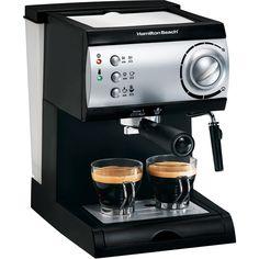 Hamilton Beach 40715 Espresso Maker, Black and Stainless - Walmart.com $70
