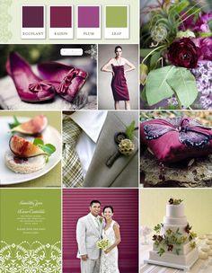 plum color wedding i-love-weddings