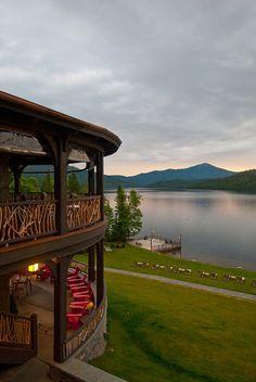 An Adirondack Evening by Lake Placid Lodge NY