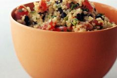 Black Bean & Tomato Quinoa by epicurious via punchfork #Black_Bean #Quinoa #epicurious #punchfork