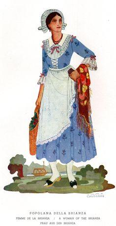 FolkCostume&Embroidery: Costume of Brianza, Italy, and Mendrisiotto, Switzerland, and La Raggiera