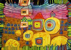 I grandi dell'arte – Hundertwasser, il medico dell'architettura – Barbara Picci Gustav Klimt, Modern Art, Contemporary Art, Friedensreich Hundertwasser, In Loco, Paul Klee, Art Plastique, Art And Architecture, Vienna