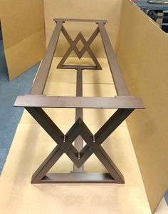 The Diamond Dining Table Base Industrial Base Sturdy Heavy image 6 Welded Furniture, Industrial Design Furniture, Furniture Design, Dining Table Design, Dinning Table, Esstisch Design, Metal Table Legs, 3d Laser, Steel Table