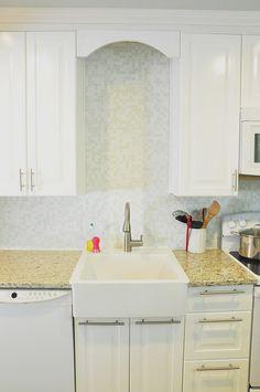 White Mosaic Tile Backsplash