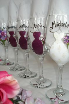 Bridal wine party Glasses