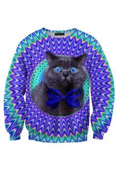 Funky Cat Crewneck Sweatshirt