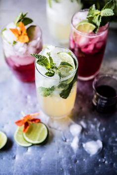 Kombucha Mojitos - a super healthy, delicious and fun way to kick off spring!   ChicChicFindings.etsy.com