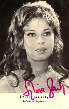 Hungarian soprano (b. signed photo, shown as Gilda in Rigoletto. Size is x inches. Famous Singers, Opera Singers, Showgirls, Classical Music, Musicals, Hair Styles, Face, Legends, Movie Posters