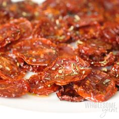 How To Make Sun-Dried Tomatoes In The Oven - The easiest method for how to make sun-dried tomatoes in the oven! Plus how to use homemade sun-dried tomatoes in recipes and how to store them. Lose of Fat Every 72 Hours! Learn the Fast Weight Loss Sundried Tomato Recipes, Sundried Tomato Pasta, Cherry Tomato Recipes, Tomato Tomato, Tomato Cage, Tomato Gravy, Tomato Basil, Tomato Soup, Make Sun Dried Tomatoes