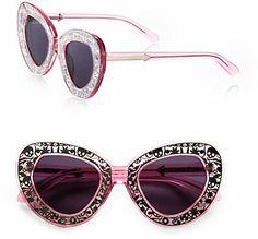 Karen Walker Intergalactic Plastic Cat's-Eye Sunglasses on shopstyle.com