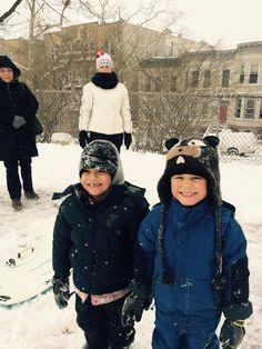 Having fun on the snow