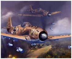 Fw 190 by dugazm Luftwaffe, Ww2 Aircraft, Fighter Aircraft, Military Aircraft, Airplane Fighter, Airplane Art, Focke Wulf 190, War Thunder, Aircraft Painting