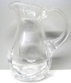 1980's Vintage Pitcher Glass Jug EAPG Cut Crystal Beverage jar $59.95 Free Shipping. Island Heat Products http://www.islandheat.com Home goods clothing and Great Family Gift Idea's.