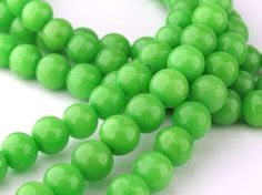 Green Mountain Jade Round Beads