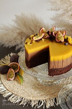 Mango Mousse, Super Torte, Yummy Cakes, Amazing Cakes, Catering, Bakery, Cheesecake, Food And Drink, Sweets