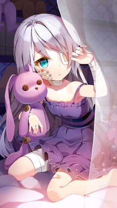 Image result for anime girl with two different eye color
