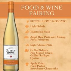 What to pair with Moscato? Sutter Home Wine & Food Pairings #WinePairing #wine