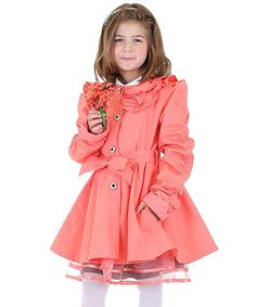Another great find on #zulily! Pink Belted Raincoat - Toddler & Girls by Di Vani #zulilyfinds