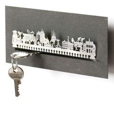 Schlüsselbretter & -kästen - Erfurt Schlüsselbrett Skyline - ein Designerstück von 13gramm bei DaWanda