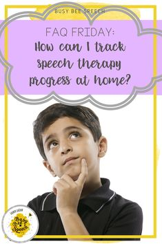 Ideas and tips for SLPs on helping parents and students to track speech therapy progress at home.