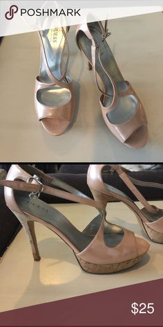 Guess high heel shoes with cork soles Gorgeous pair of guess high heeled shoes Guess by Marciano Shoes Heels