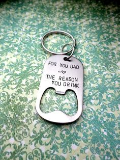 For You Dad Father's Bottle Opener Keychain by HandmadeLoveStories