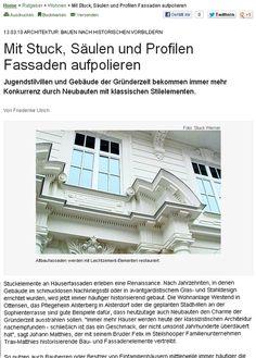 ARCHITEKTUR: BAUEN NACH HISTORISCHEN VORBILDERN  Interview mit dem Hamburger Abendblatt