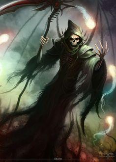 DeviantArt: More Collections Like Grim Reaper by YannickBouchard Death Reaper, Grim Reaper Art, Grim Reaper Tattoo, Don't Fear The Reaper, Arte Horror, Horror Art, Dark Fantasy Art, Dark Art, Imagenes Dark