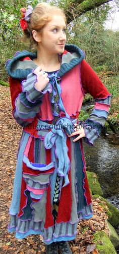Upcycled pixie Fairy Coat xxl xl  Upcycled sweaters  by Fairytea, $289.00