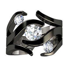 Meghan Black Companion   Titanium Rings, Titanium Wedding Bands, Diamond Engagement Rings