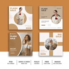 Template post square banner for instagra... | Free Psd #Freepik #freepsd #freebanner #freeflyer #freesale #freecard Instagram Design, Instagram Posts, Instagram Layouts, Social Media Template, Social Media Design, Banner Design, Layout Design, Free Banner Templates, Box Templates