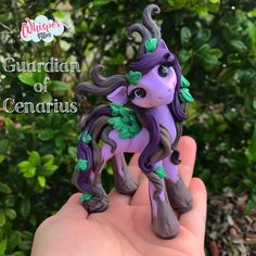 Guardian of Cenarius World of Warcraft Druid WoW Filly  By Whisper Fillies Unique handmade polymer clay horse, pony, unicorn and fantasy creatures. Ooak Art doll dolls / Visit my collection of adorable little  figurines on Facebook, Instagram and Etsy!  Whisperfillies.etsy.com
