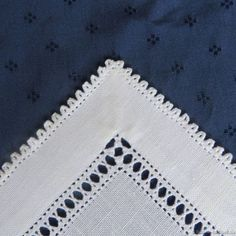 A Wide Hem with a Folded Peahole Edging - Luzine Happel Hand Embroidery Tutorial, Embroidery Sampler, Hardanger Embroidery, Hand Embroidery Designs, Embroidery Stitches, Embroidery Patterns, Embroidery For Beginners, Embroidery Techniques, Drawn Thread