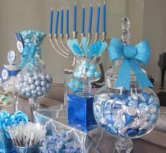 Hanukkah Chanukah Desserts - I know this is for Hanukkah but with some slight modifications, it would be really cool for a boy baby shower or bris.