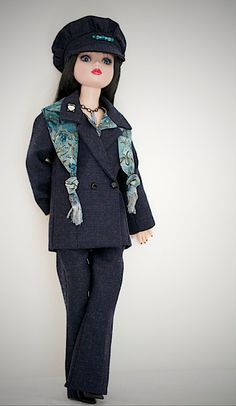 Ellowyne Wilde 6pc Suit Ensemble in wool suiting, MHD pattern by Simply18Inches via Etsy $95.00