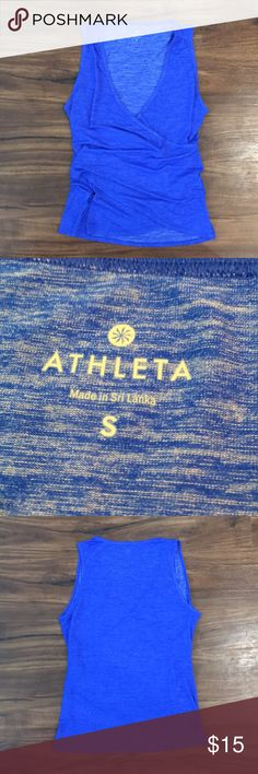Athleta Blue Workout Tank! Never been worn- This stretchy cobalt blue tank from Athleta is in perfect condition. Comes from a smoke free home! Athleta Tops Tank Tops