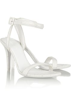 Alexander Wang   Antonia snake-effect leather sandals   NET-A-PORTER.COM