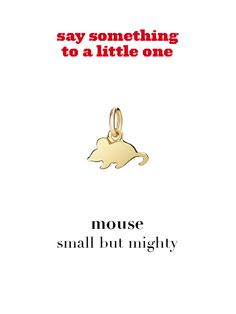 Dodo charm: mouse - small but mighty