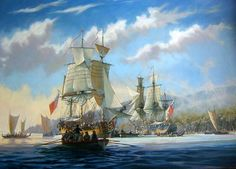 transpress nz: Captain Cook's ships Resolution and Discovery in Hawaii