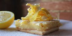Tart Lemon Squares that are easy to make and yummy to eat.