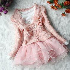 Mädchen Mode Blume + Mäntel Kleider Kleidung stellt reizende Prinzessin Bekleidung Set – EUR € 21.14