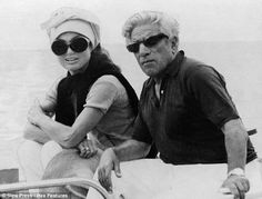 Jackie Onassis and Aristotle Onassis, on Skorpios, Greece in 1968. The island, off the western coast of Greece, was bought by Onassis in 196...
