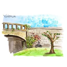 Valencia, Golf Courses, Mansions, House Styles, Instagram, Painting, Decor, Watercolor Painting, Cities